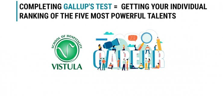Get to know your talents. Take the Gallup Clifton Strengths Test